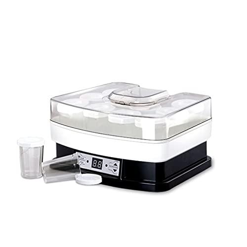 SNJDX Fabricante de Yogur pequeño automático fermentador Inteligente para el hogar Fabricante de Yogur casero 8 Piezas Tazas de Vidrio