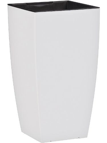 Dehner Pflanztopf mit Bewässerungssystem, ca. 57 x 30 x 30 cm, Kunststoff, weiß