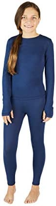 Eddie Bauer Kids Base Layer Thermal Underwear for Boys and Girls Shirt and Pants Set Navy Small product image