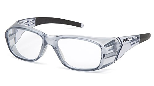 Pyramex Safety Emerge Plus Readers Safety Glasses, 2.5 Diopters, Clear Full Reader Lens (SG9810R25)