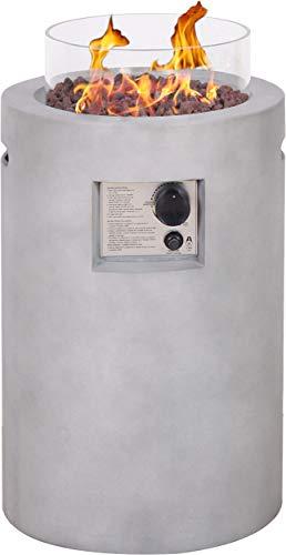 Primaster Gas-Feuerstelle Drum Ø 41 cm 8,5 KW Hülle Feuerstelle Gasfeuerstelle