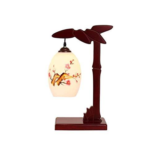 BXU-BG Lámpara de mesa, de madera maciza moderno estudio lámpara de mesa de la sala restaurante chino dormitorio Lámpara de cabecera 52 × 26 cm creatividad nórdica