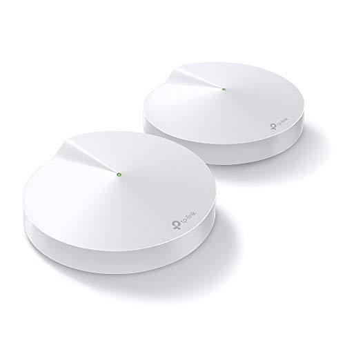 TP-Link Deco M9 Plus Wifi Mesh, Pacchetto da 2 unità fino a 400 ㎡, AC2200, Velocità Tri-Band (2.4GHz+2x5GHz) 2134Mbps, Consigliato per giocatori di giochi e utenti di Fibra, Compatibile Alexa