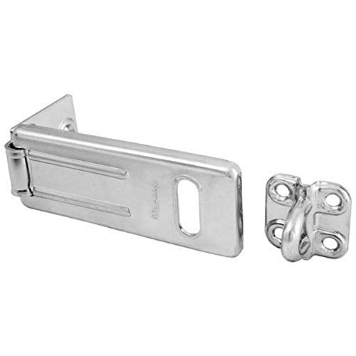 Master Lock Steel, Zinc Plated Hasp with Hardened Locking...