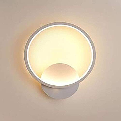 LED Wall Light, indoor ronde Wandlamp Modern Creative Muur Verlichting Fit for Slaapkamer Woonkamer Gang van het bureau (12W, Wit Licht/warm licht), Wit licht, Kleur: Warm Licht