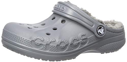 Crocs Kids' Baya Lined Clog, Charcoal/Charcoal, 3 M US Little Kid