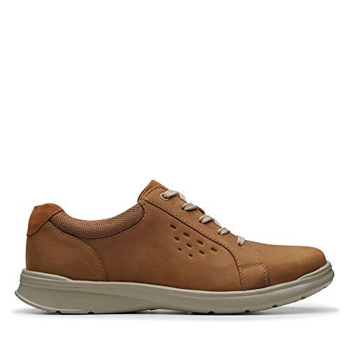 Clarks Cotrell Stride, Zapatos de Cordones Derby para Hombre, Braun Tan - Funda de Piel, 39.5 EU