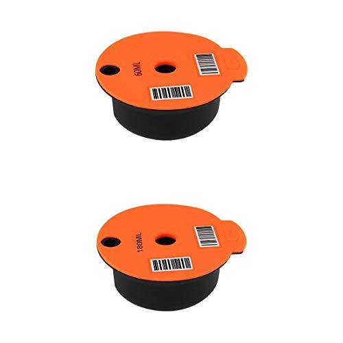 MagiDeal Juego de 2 cápsulas de café de plástico Recargables para cafetera Tassimo de Bosch, Malla de Acero Inoxidable
