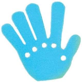 ウェーブハンド(大)ブルー