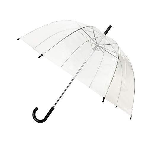 Susino Regenschirm mit Aufschrift I Love Rain, 90 cm, transparent