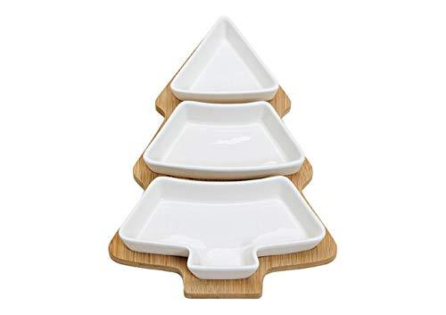 Weihnachts-Teller 4-teilig in Form eines Tannen-Baums / Vorspeisen-Teller -Set / Servier-Teller, Servier-Geschirr, Weihnachts-Deko, Weihnachts-Geschenk, Keks-Teller, Plätzchen-Teller Tisch-Deko