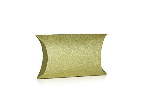 x12 prachtige gouden glitter medium kussen dozen voor kerst geschenken wikkelen verjaardag