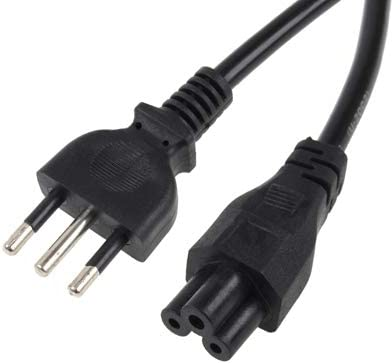 Color : Color1 Length ZQ House 3 Prong Style Italian Notebook AC Power Cord 1.5m Durable