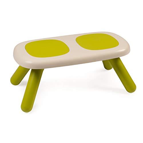 Smoby - Kid Bank Grün – Design Kinderbank für Kinder ab 18 Monaten, für Innen und Außen, Kunststoff, ideal für Garten, Terrasse, Kinderzimmer