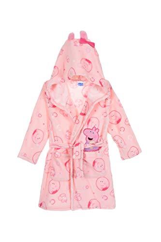 Peppa Wut z Pig - Albornoz para niña (forro polar, mullido, cálido) Rosa 2 116 cm