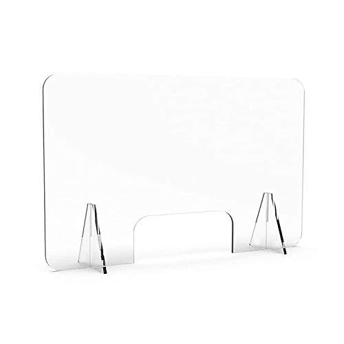 Spuckschutz plexiglas, 4mm(100x75), Plexiglas schutzwand, Spuckschutz thekenaufsatz, Theken, Maniküre, Schreibtisch, transparentes Material