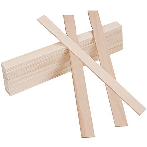 BELLE VOUS Holzspatel zum Basteln Rührstab Farbe (25er Pack) Holzstäbe 30 x 2,4 cm Holzstäbe Quadratisch Bastel Holzleisten zum Rühren von Farben, Silikon - Kunst & Bastelprojekte für Haus & Garten