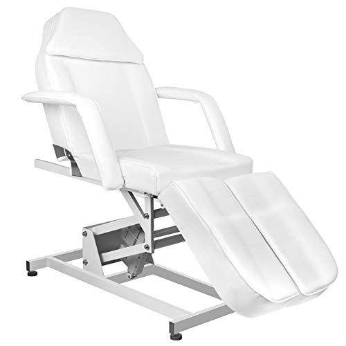 Activeshop Eyepower 673AS Pedi - Camilla de masaje (1 motor, hasta 180 kg, piel sintética), color blanco