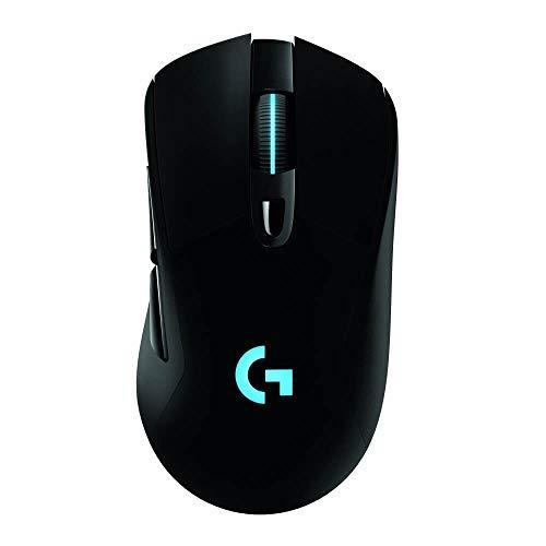 Mouse Gamer Sem Fio Logitech G703 LIGHTSPEED com RGB LIGHTSYNC, 6 Botões Programáveis, Sensor HERO 16K, Compatível com POWERPLAY