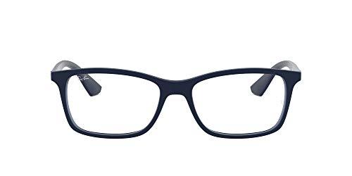Ray-Ban 7047 Occhiali opachi trasparenti Uomo, Blu (Dark Blue), 56
