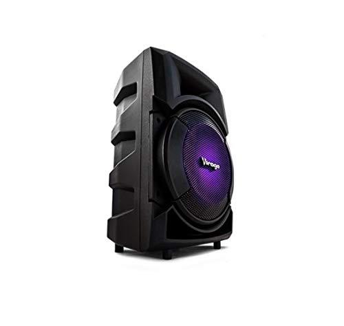 Vorago KSP-300 30W Negro altavoz – Altavoces (Inalámbrico y alámbrico, 3.5mm/USB/Bluetooth, 30 W, 40-20…