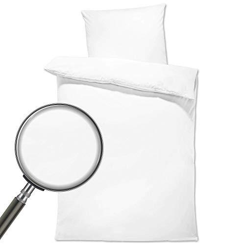 Juego de ropa de cama para bebé – Ropa de cama infantil con funda de almohada de 80 x 80 cm de algodón (color blanco, dos juegos de 135 x 200 cm)
