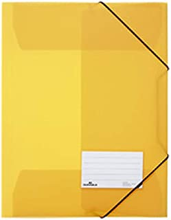 f.to A4 Cartellina con pressino fermafogli a leva capacit/à 100 fogli conf DURABLE 224506 da 1 pezzo azzurro con porta etichetta adesivo sul dorso