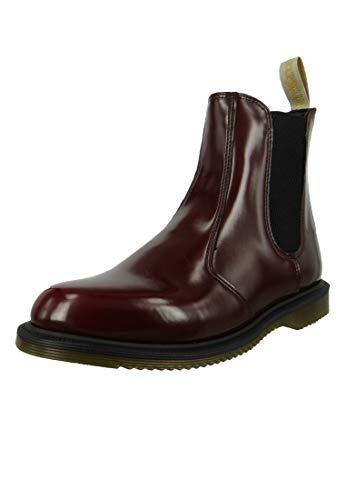 Dr. Martens Women's Vegan Flora Cherry Ankle Boot, Cherry Red, 7 Medium UK (9 US)