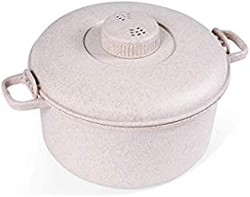 Handy Gourmet Eco Friendly Microwave Pressure Cooker - Easy Microwave Cooking - Easy & Fast Microwave Cookware for Rice, Chicken, Pasta, and More - Non-toxic & Bio-degradable Material (Beige)