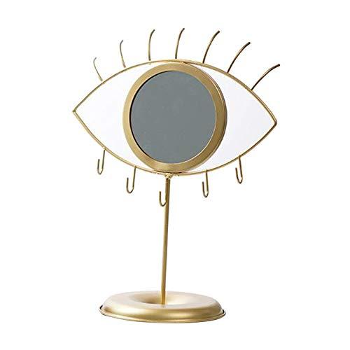 Amuzocity Espejo Art Boho Organizador de Almacenamiento de Joyas Decorativas para Tocador