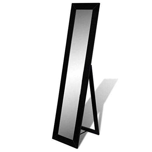 lingjiu Shopping sol miroir miroir sur pied ganzk ? rperansicht Noir – Matériau : panneaux de fibres de densité moyenne (MDF) + Acier + Verre Ensemble produktgr?? E : 150 x 36 x 39 cm Miroir sur pied