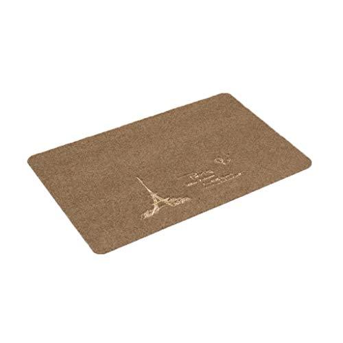 Find Bargain Into The Floor mat Bathroom/Kitchen/Bathroom Strip Anti-Slip mat Water (Color : Brown, ...