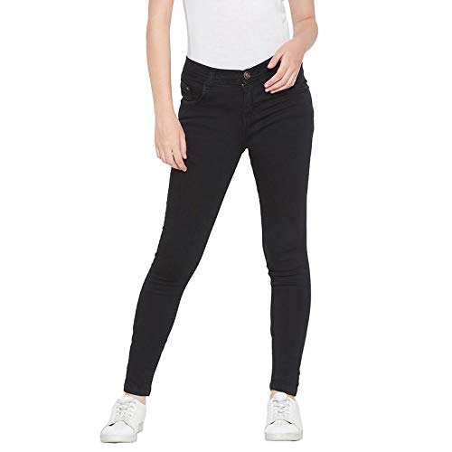 NIFTY Women\'s Denim Stretchable Slim Fit Black Jeans Jeans   Jeggings