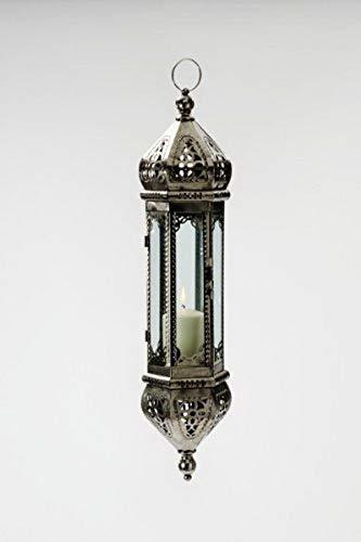 Hängelaterne Orient aus Metall und Glas Höhe: 50,5 cm