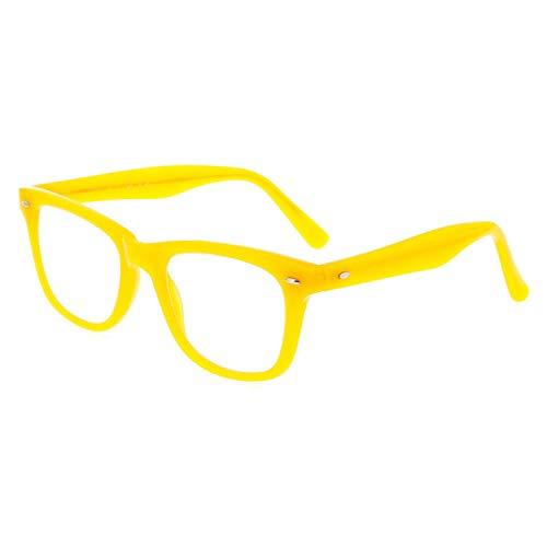 DIDINSKY Gafas de lectura graduadas para hombre y mujer transparentes. Gafas de presbicia para hombre y mujer para vista cansada. Think Yellow +1.5 – GETTY
