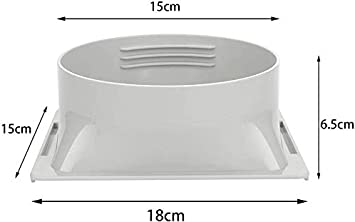 6 Portable Air Conditioner Window Adapter Exhaust Hose Connector Tube Connector Air Hood Baffle Plate Mobile air Conditioning Accessories 6 Round Mouth White