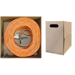 QualConnect Bulk Cat6 Orange Ethernet UTP Cable Unshiel Solid Same day shipping Dealing full price reduction