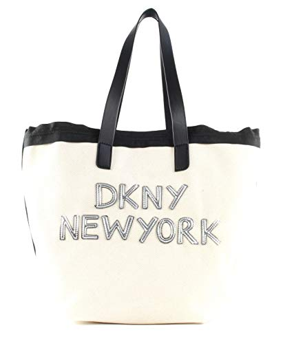 DKNY Cori Shopper Ivory/Silver