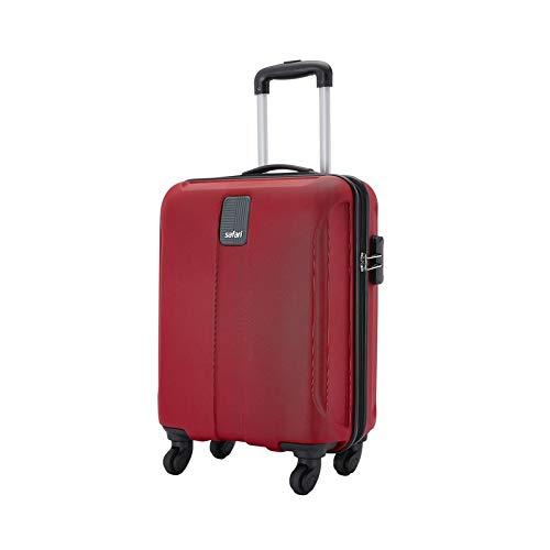 Safari Thorium Sharp Antiscratch 55 Cms Polycarbonate Red Cabin 4 wheels Hard Suitcase