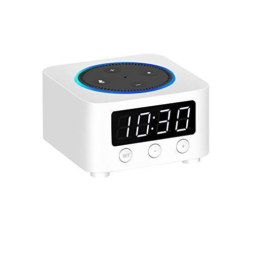 Clock Stand for Amazon Echo Dot (only fits with The Previous Generation of Echo Dot - Echo Dot 2nd Gen) - White