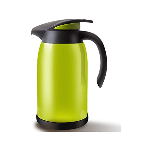 Flachmänner JXLBB Isolierkessel-Haushalt Große Kapazität Isolationstopfpresse Thermos-Glas-Galle-Thermos-Europäischer Wasserkocher-Glas-Liner (Capacity : 1.3L, Color : Green)