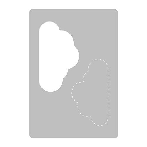 Wiederverwendbare Wandschablone aus Kunststoff // 45x65cm // Gepunkteter Wolke // Muster Schablone Vorlage