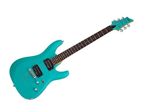 Schecter C-6 Deluxe Electric Guitar Satin Aqua Finish