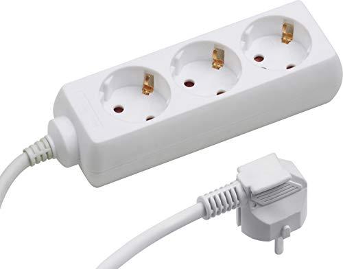Meister Steckdosenleiste 3-fach - 3 m Kabel - weiß - Kunststoffleitung - IP20 Innenbereich / Steckerleiste / Mehrfachsteckdose / Tischsteckdose / Tido 3-fach / 7430210