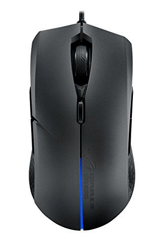 ASUS Ambidextrous Optical Gaming Mouse - ROG Strix Evolve | Wired Gaming Mouse for PC | 7200 DPI, Omron Switches | 4 Customizable Ergonomic Styles | Aura Sync RGB, Armoury II