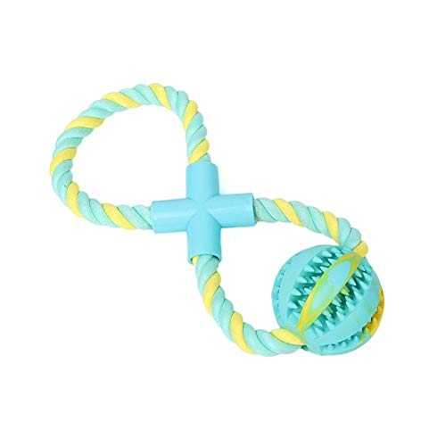 Kalmerende Bed Plush Snacks Ball Pet Toy Rubber Bite Dog Ball Toy Met Riem Rope Dog Tag (Color : As Picture, Size : One Size)
