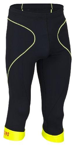 Rono Balance Pantalon 3/4 pour Homme S Multicolore - Black/Sulphur Spring