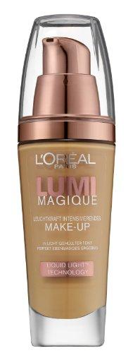 L'Oréal Paris Make-Up Lumi Magique Fond de Teint, W6 Gold Camel - optimale, natürliche Deckkraft mit bis zu 12h Halt - für einen tollen Glow, 1er Pack (1 x 30 ml)