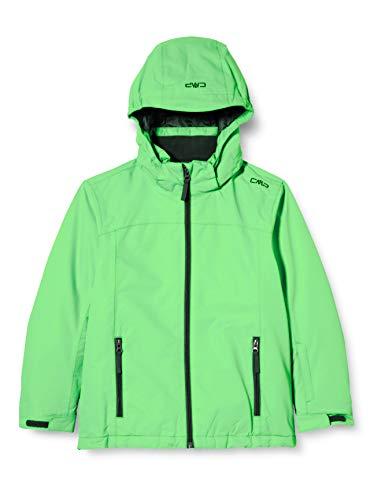 CMP Jungen Snaps Hood Skijacke, Verde Fluo, 128