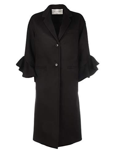 Valentino Luxury Fashion Damen SB3CA3W515E0NO Schwarz Kaschmir Mantel   Herbst Winter 19